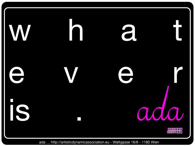 ada is … Artists